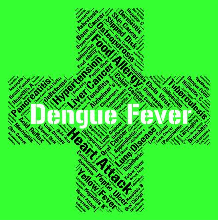 afflictions: Dengue Fever Indicating High Temperature And Afflictions