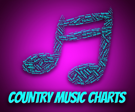country music: Country Music Charts Hit Showing Parade And Harmony