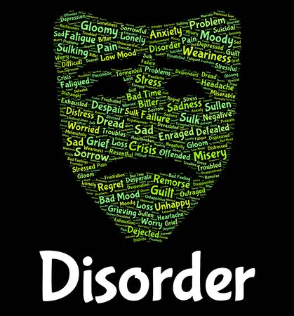 malady: Disorder Word Meaning Problem Wordcloud And Diseased