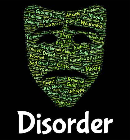 diseased: Disorder Word Meaning Problem Wordcloud And Diseased