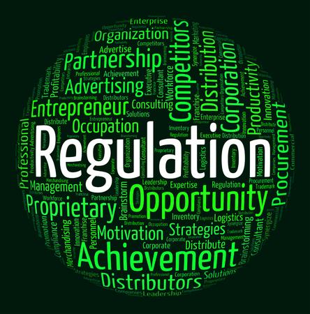Regulation Word Representing Procedure Statute And Regulated