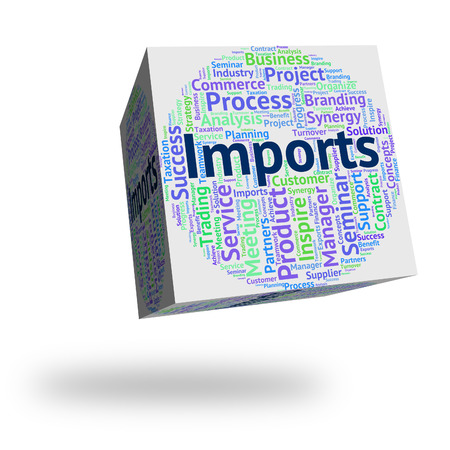imports: Imports Word Showing Buy Abroad And International