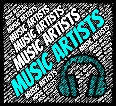 melodies: Music Artists Showing Sound Tracks And Harmonies Stock Photo