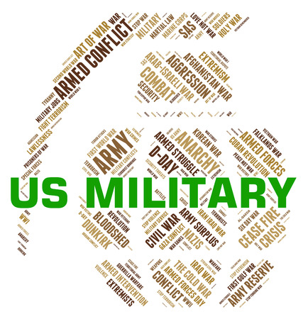 us military: Us Military Showing The United States And The United States Stock Photo