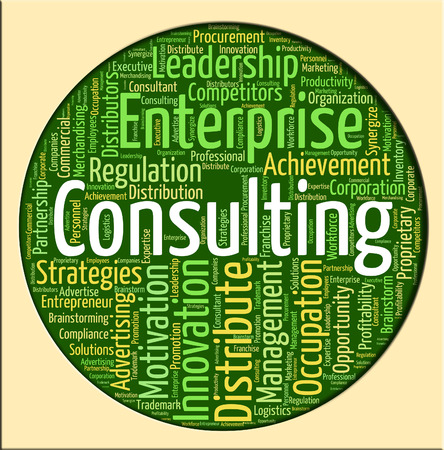 consulted: Consulting Word Representing Seek Information And Ask Stock Photo
