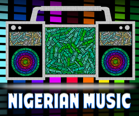 nigerian: Nigerian Music Showing Tunes Audio And Acoustic Stock Photo
