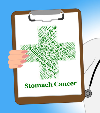 poor health: Stomach Cancer Representing Poor Health And Indisposition