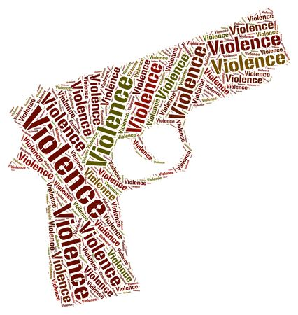 savagery: Violence Word Representing Wordclouds Cruelly And Wordcloud