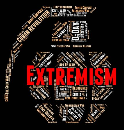 bigotry: Extremism Word Indicating Activism Militancy And Wordcloud