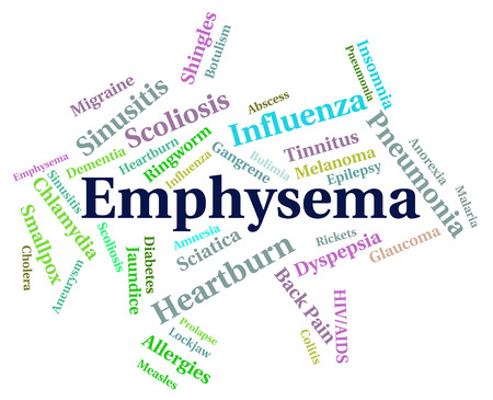 diseased: Emphysema Word Meaning Ill Health And Diseased Stock Photo