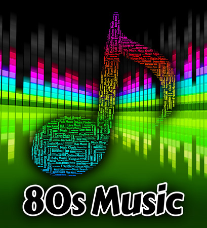 eighties: Eighties Music Indicating Sound Tracks And Acoustic