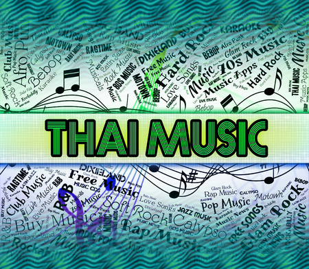 representing: Thai Music Representing Sound Tracks And Thailand Stock Photo
