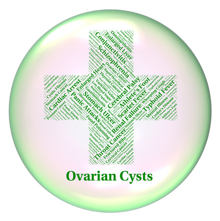 ovarian: Ovarian Cysts Showing Ill Health And Blister