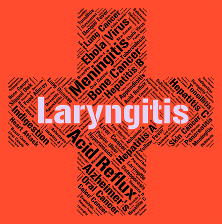 indisposition: Laryngitis Word Indicating Ill Health And Disorders