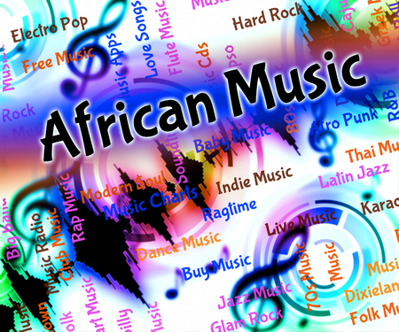 tunes: African Music Showing Sound Track And Tunes