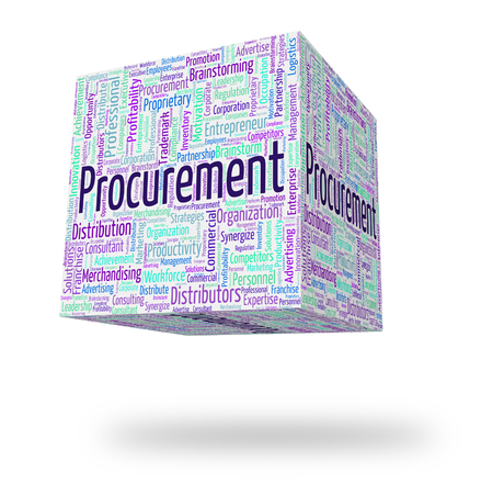 acquire: Procurement Word Showing Wordcloud Acquire And Procuring