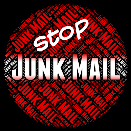 unsolicited: Stop Junk Mail Meaning Warning Sign And E-Mail