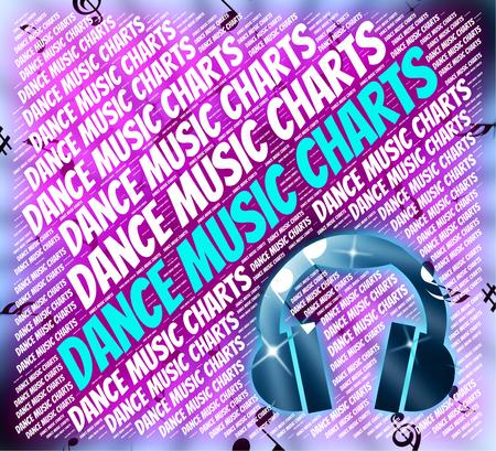 musique dance: Dance Music Charts Showing Sound Tracks And Dances Banque d'images
