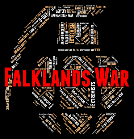 falklands war: Falklands War Indicating Military Action And Islands