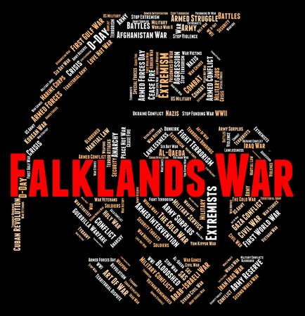 falklands war: Falklands War Indicating Military Action And Islands