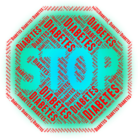stopped: Stop Diabetes Showing Hyperglycemia Stopped And Control Stock Photo