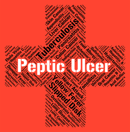 afflictions: Peptic Ulcer Indicating Canker Sore And Afflictions