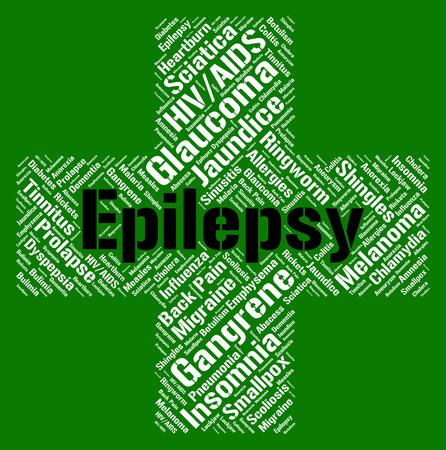 indisposition: Epilepsy Word Representing Ill Health And Indisposition