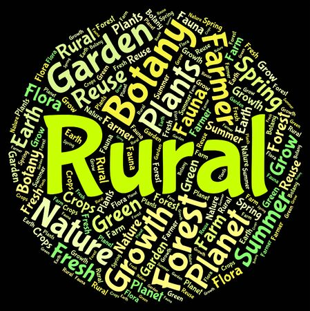 non: Rural Word Indicating Non Urban And Text