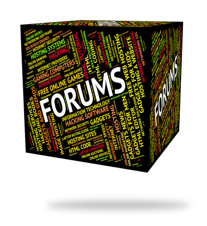 forums: Forums Word Representing Communication Chat And Text