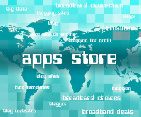 application software: Apps Store Meaning Application Software And Applications