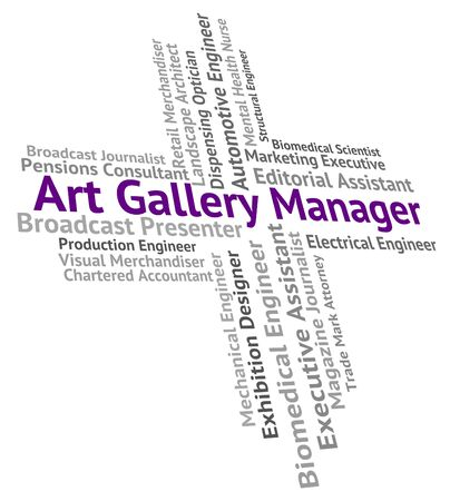 art gallery: Art Gallery Manager Meaning Design Hire And Career Stock Photo