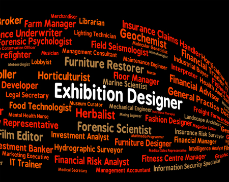 trade fair: Exhibition Designer Representing Trade Fair And Recruitment
