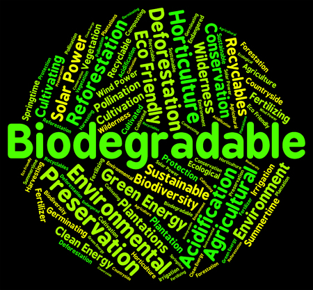 Biodegradable Word Showing Degrade Bacteria And Biodegrade
