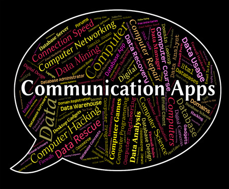 application software: Communication Apps Representing Application Software And Internet