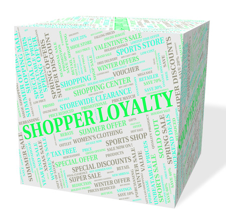 commercial activity: Word Loyalty Representing Commercial Activity And Fealty Stock Photo