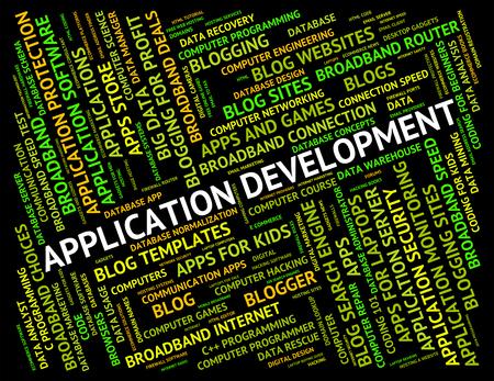programs: Application Development Representing Success Text And Programs