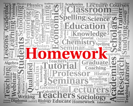 assignments: Homework Word Indicating Educated Assignments And Words