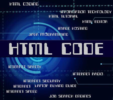 cipher: Html Code Indicating Hypertext Markup Language And Program Cipher Stock Photo