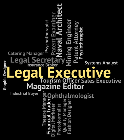 counsel: Legal Executive Indicating Senior Administrator And Lawyers Stock Photo
