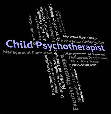 disturbed: Child Psychotherapist Indicating Disturbed Mind And Youth Stock Photo