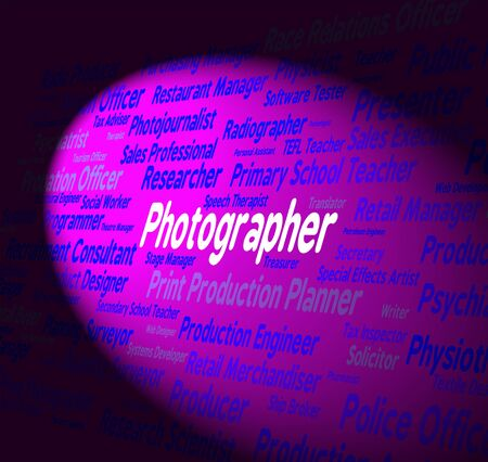 Photographer Job Showing Jobs Recruitment And Occupations Stock Photo
