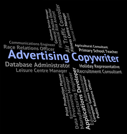 promoting: Advertising Copywriter Meaning Promoting Advertisement And Adverts