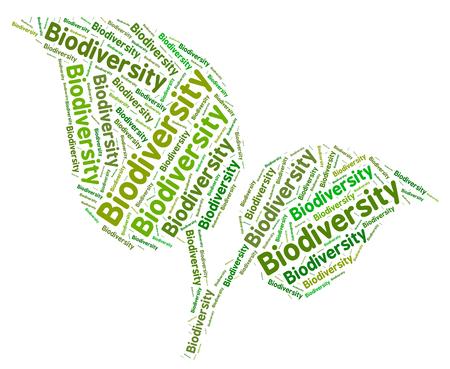 herbage: Biodiversity Word Indicating Plant Life And Verdure Stock Photo