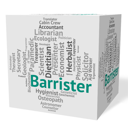 barrister: Barrister Job Representing Barristers Counselor And Employee Stock Photo