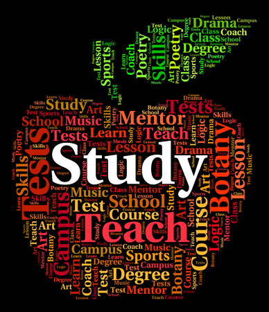 educated: Study Word Meaning College Train And Educated Stock Photo