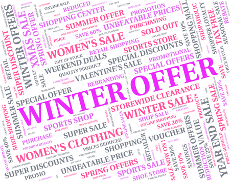 Winter Offer Meaning Season Offers And Bargain