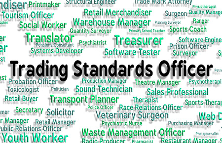 requirements: Trading Standards Officer Meaning Requirements Position And Requirement Stock Photo