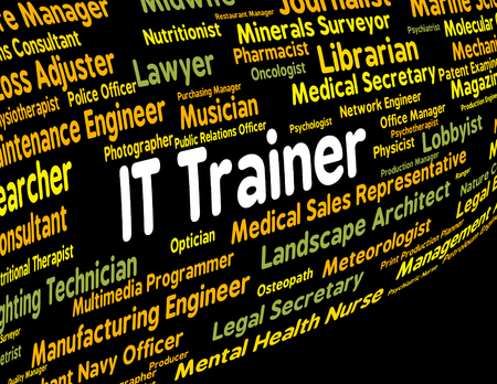 information technology: Information Technology Trainer Meaning Give Lessons And Text