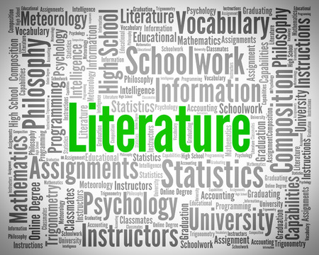Literature Word Meaning Printed Works And Writing Stock Photo