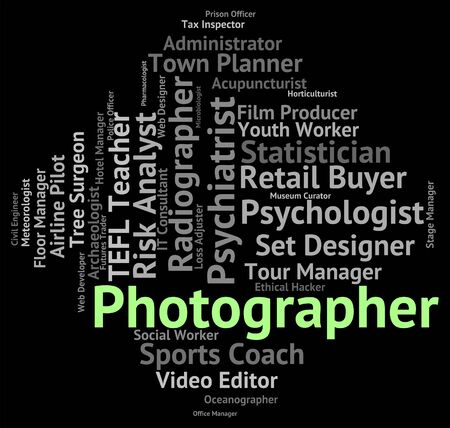 Photographer Job Showing Photographers Paparazzi And Employment